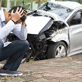 Man in need of a car accident lawyer